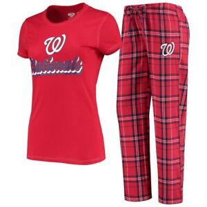 Washington Nationals Ladies Flannel PJ Set NEW w/ Tags