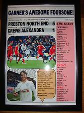 Preston North End 5 Crewe Alexandra 1 - 2015 - framed print