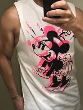 DISNEY H&M Minnie Mouse T-Shirts with Cut-Off Sleeves NEW S, M, L, XL