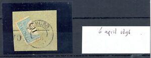 NETHERLANDS 1896-5-6 -KR= TILBURG - POSTAGE DUE # 3 -BISECTED ON PIECE F/VF @2