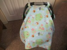 NEW A Forest of Tiny Animals Print Handmade Baby Car Seat Carrier Cover / Canopy