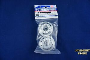Tamiya 56517 RC Metal Plated Front Wheels - For Tractor Truck 22mm Width