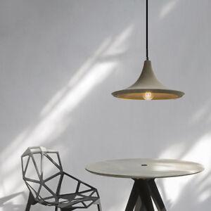 Industrial Loft Grey Concrete Cement Shade 1 Lamp Creative Ceiling Pendant Light