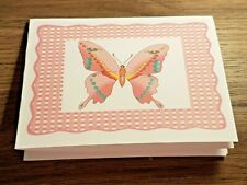 """KITTY'S NOTE CARDS - Set of 10 + Envelopes - """"A Butterfly in Pink Wicker"""""""
