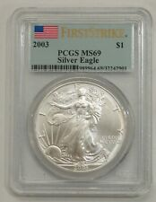 2003 - Silver American Eagle - PCGS MS 69 First Strike
