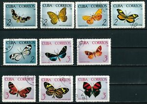 CARIBBEAN OLD STAMPS 1965 - Butterflies - USED/CTO (NON COMPLETED SET)