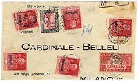 1504 - Colonie, Cirenaica - Affrancatura mista su frontespizio, 31/10/1925