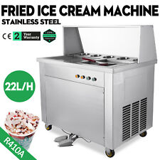 Double Pan 5 Box Fried Ice Cream Machine Thai Roll Ice Cream 22L/H Yogurt Making