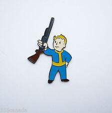Fallout 4 Vault Boy Metal Pin Basher Gun Perk - 3 2 New Vegas Limited Badge 4 5