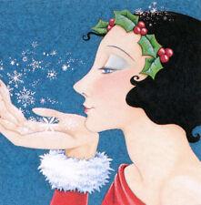 Snowflake Princess-Handcrafted Christmas Magnet-W/Mary Engelbreit art