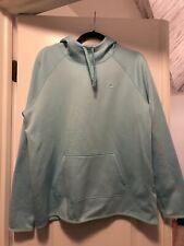 Euc Nike Women's Hooded Sweatshirt Therma Fit Neon Light Blue Size L