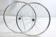 700c 622 -17 ROAD HYBRID BIKE WHEELS 130mm DUAL RIM QUICK RELEASE SILVER 6/7 SPD