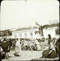 MAROC Tanger Maghreb 1904, Photo Stereo Grande Plaque Verre VR9L5n6