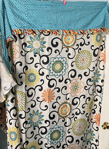Waverly boho shower curtain polyester & cotton overhang