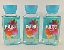 3 Malibu Heat Shower Gel Bath & Body Works 3 Oz