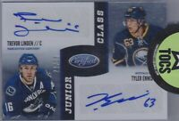 Linden/Myers 2012-13 Panini Certified Junior Class Dual Auto 22/25 Canucks Sabre