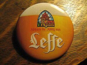 Leffe Beer Brewery Belgium Mug Foam Label Advertisement Lipstick Pocket Mirror