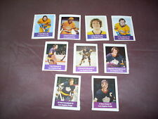 NHL LOS ANGELES KINGS LOBLAW STICKERS 9 DIFFERENT GORING, ETC. 1974-75