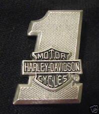 HARLEY-DAVIDSON MOTORCYCLE #1 BAR & SHIELD VEST PIN