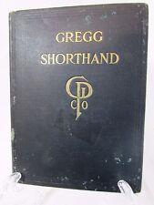 1916 Antique Hardcover Book Gregg Shorthand Tulsa Business College Vintage