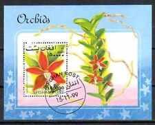 Fleurs - Orchidées Afghanistan (107) bloc oblitéré