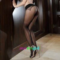 Hot Women's Seamless Tights Stockings 0809 Black