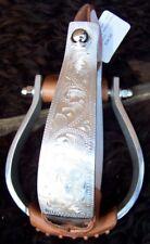 """Stirrups - 1.5"""" Engraved Aluminum Oxbow"""