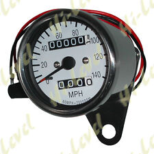 Custom Mini Speedo 60mm 2:1 MPH White face with Chrome Body Cable Drive BC28021T