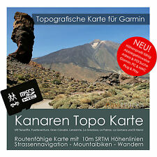 Kanarische Inseln Topo Karte Garmin Höhenlinien 4GB microSD Garmin Navi,PC & MAC