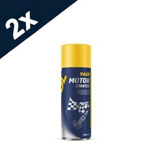 9669 Mannol Engine Starter Spray Can 2x450ml jump start cold start Easy Start