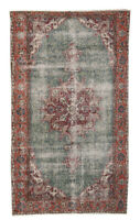 4x7 Hand Knotted Oriental Vintage Wool Traditional Floral Distressed Area Rug