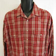 Wrangler Pearl Snap Plaid Shirt XL Western Rockabilly Rodeo Red Check