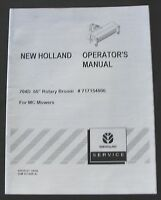 """NEW HOLLAND 704D 60"""" ROTARY BROOM FOR MC MOWER 22 28 35 TRACTOR OPERATORS MANUAL"""