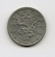 World Coins - Czechoslovakia 50 Haleru 1922 Coin KM# 2