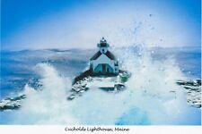Cucholds Lighthouse, Maine,  Artistic greeting cards by Jean McLean - 5 x 7