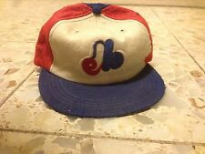 Montreal  Expos Vintage Baseball  Hat Union made Wool Blue Red White