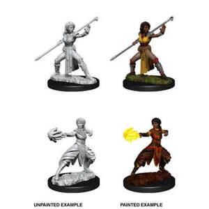 WZK73839 Dungeons & Dragons Nolzur`s Unpainted Minis W10 Female Half-Elf Monk