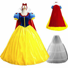 Adult Snow White Princess Costume Women Cosplay Carnival Halloween Party Dress