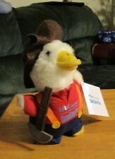 """NEW 6"""" AFLAC TALKING DUCK~MINER~WITH TAG  """"One Day Pay Smart Claim Program"""""""