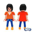 Playmobil CityLife Figura: Hermosos mujer con negro BOB EN Camiseta & Jeans