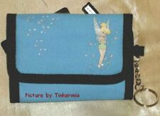 Tinkerbell Blue Wallet Id Key Ring Coin Purse Tinker