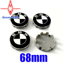 4Pcs Genuine BMW Emblem Logo Badge Hub Wheel Rim Center Cap 68mm Black+White