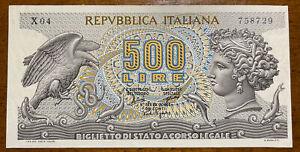 banconota Repubblica italiana da 500 lire Aretusa 1967 Serie X