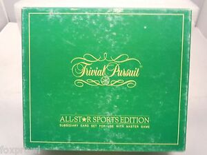 TRIVIAL PURSUIT ALL-STAR ED Game 1985 VINTAGE SEMI-COMPLETE Selchow & Righter
