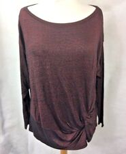 Marks Spencer Womens Jumper Red Size 22 Berry Knitted UK RRP £19.50 F2