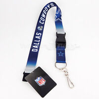 NFL Dallas Cowboys Lanyard Key Ring Keychain ID Holder Llavero Dallas Cowboys
