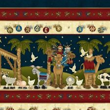 Henry Glass AWAY IN A MANGER BORDER STRIPE 100% cotton Fabric Patchwork Quilting
