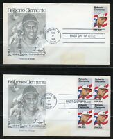 UNITED STATES 1984 ROBERTO CLEMENT  LOT OF 4  DIFFERENT FIRST DAY COVERS