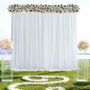 2m / 3m / 6m White Stage Background Drape Soft Curtains Wedding Birthday Party