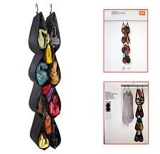 Pocketta Hanging Chaussure/Sac à main noir organisateur tissu polyester Conception Flexible